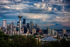 Summer Sky Over Seattle (Fresnatic) Tags: seat