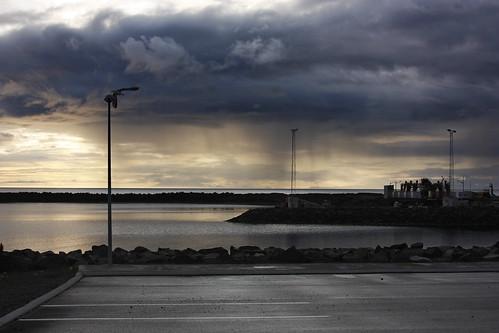 Akranes car park on the docks