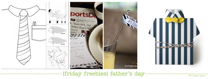 {friday freebies} father's day