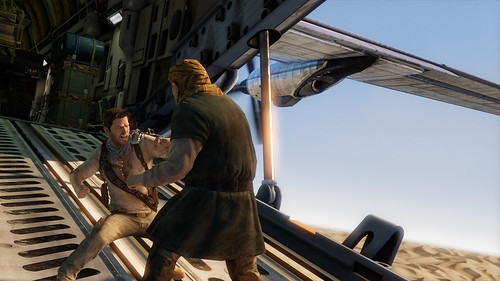 Uncharted 3 single player Gamescom 2011 screenshot