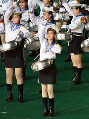 Sexy Sailor Girls (Joseph A Ferris III) Tags: cute sexy girl march uniform sailor northkorea pyongyang dprk massgames