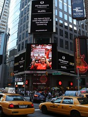 NNU Tax Wall Street Message in Times Square