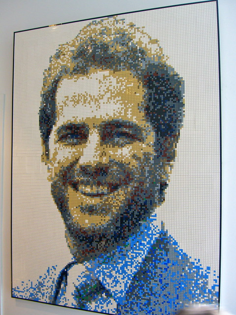 Nathan Sawaya Self Portrait in LEGO