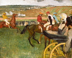 Edgar Degas - The Racetrack, Jockeys near a Carriage, 1887 at Musée d'Orsay Paris France (mbell1975) Tags: paris france art museum painting europe gallery museu fine arts eu musée musee m impressionism museo orsay impression impressionist muzeum dorsay müze museumuseum edgardegastheracetrack jockeysnearacarriage1887atmuséedorsayparisfrance