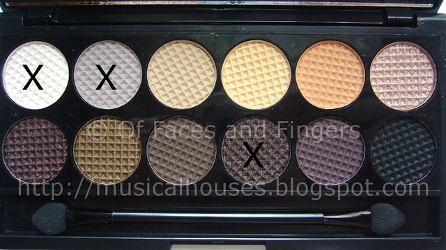 sleek au naturel palette neutral taupe eye