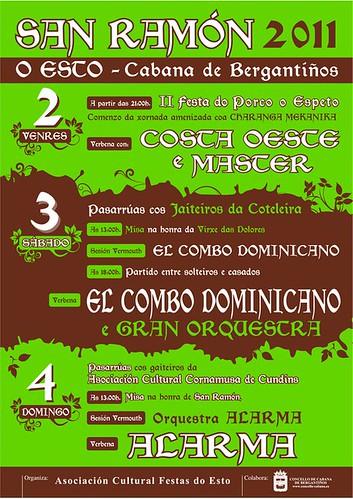 Cabana de Bergantiños 2011 - San Ramón en O Esto - cartel pequeno
