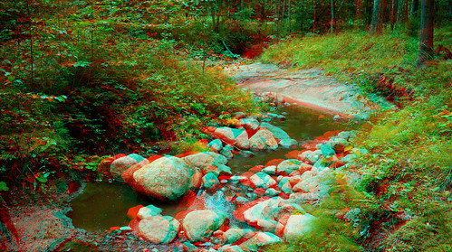 Nuuksio national park in 3D anaglyph