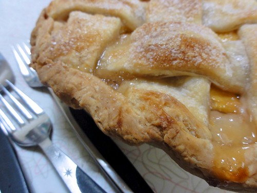 Lattice-Top Fresh Peach Pie