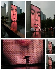 Chicago's Crown Fountain collage by doug.siefken