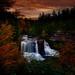 Autumn Waterfall Sunset
