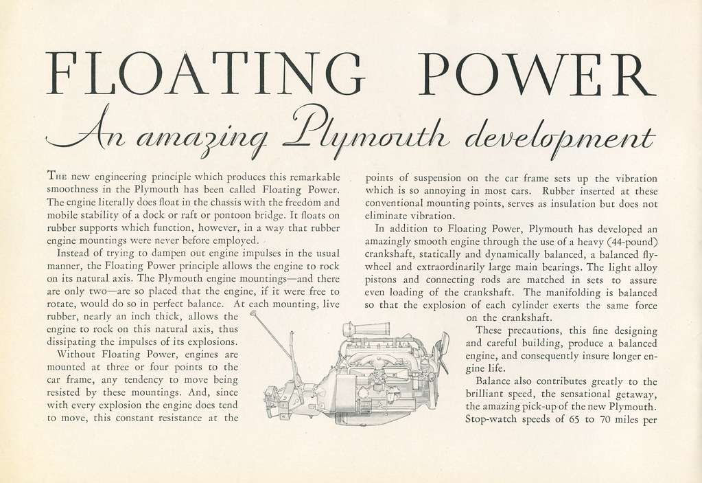 Plymouth, Chrysler Motors Product, with Floating Power and Free Wheeling, 1931 - Promotional Sales Brochure [Page 2]