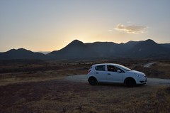 Cabo de Gata, Spain 2011 (sekkha) Tags: auto road sunset espaa car atardecer spain desert carretera dusk paisaje andalucia coche desierto dirtroad andalusia landschaft andalusien pista almeria cabodegata spanien wste landsape landstrasse abendlicht schotterstrasse