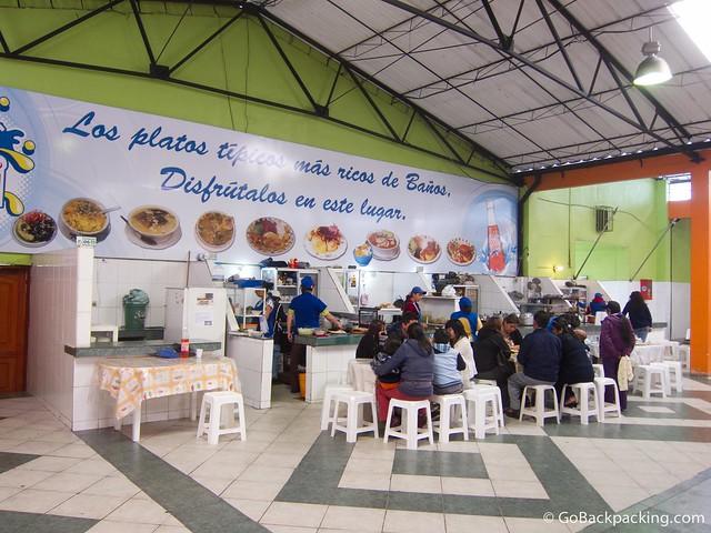 Inside Mercado in Banos