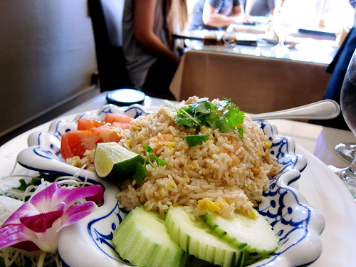 garlic salmon fried rice