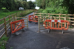 Five Arches Greenway Construction - Day 212 (WestfieldWanderer) Tags: geotagged barrier cyclepath radstock midsomernorton 5archesgreenway geo:lat=5129073 geo:lon=2462241