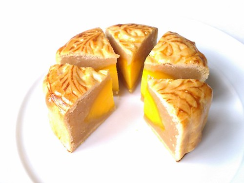 Lotus Seed Mooncake with Salted Duck Egg Yolk