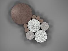 Fibonacci Coin Packing (fdecomite) Tags: circle packing fibonacci math povray