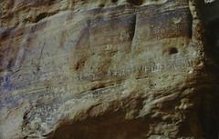 ancient writing (dryasadingo) Tags: desert wadirum jordan wadi petroglyphs jordan05 thevalleyofthemoon