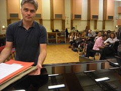 Edward Gardiner with the BBCSO at Maida Vale (Steve Bowbrick) Tags: studio rehearsal piano orchestra maidavale conductor bbcso bbcproms bbcsymphonyorchestra edwardgardner