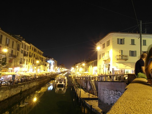 The Naviglio Grande canal, Milan