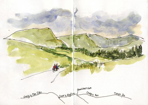 17_sat30 03 very quick sketch of the Brecon Beacons
