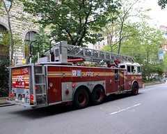 L025l FDNY Spare Ladder 25, Upper West Side, New York City (jag9889) Tags: county city nyc ny newyork truck fire harlem manhattan broadway company 25 upperwestside borough ladder fdny department firefighters seagrave bravest ladder25 prideofthewestside l025 y2011 jag9889