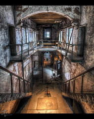 Enter the Rotunda (Theaterwiz) Tags: rust state pennsylvania decay ghost landmark historic haunted prison eastern esp easternstatepenitentiary rustyandcrusty penitentiary cellblock easternstate promote photomatix ghosthunters 11exposures topazadjust promotecontrol theaterwiz theaterwizphotography