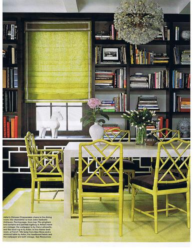 Decor Pad - Lime Green Chairs