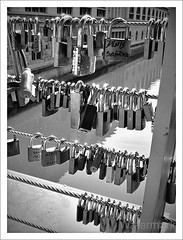 Locked (rikl64) Tags: bridge white black canon slovenia ljubljana padlocks g11