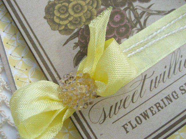 Yellow Sweet William Seed Packet Card Detail