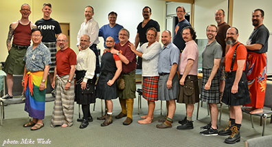 Kilt & Sarong Night, Men's Fall Knitting Retreat 2011