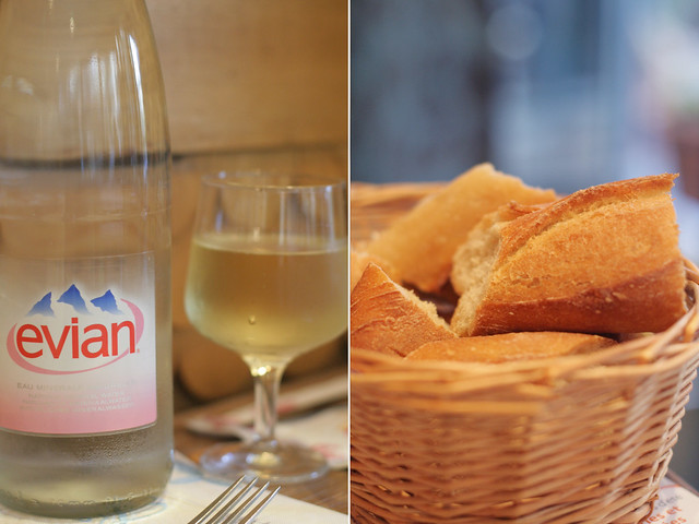 water, wine, and bread