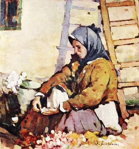 Luchian, Stefan (1868-1916) - 1910c. The Florist (Romanian National Art Gallery, Bucharest)