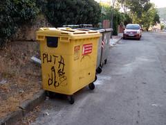 Basura (Daquella manera) Tags: madrid graffiti puta falo pintada navacerrada genitales