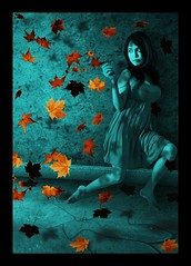 Autumn All Over Me (IPCT_2015) Tags: autumn girl spiral sink floating blues blueroom