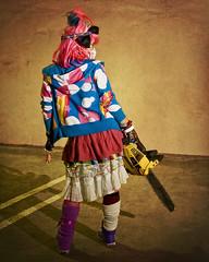 harajuku girl 8 (CE Photogenetix) Tags: shadow colors girl fashion japan contrast japanese weird sinister menacing chainsaw evil spooky weapon harajuku kawaii horror edgy canon40d christinaedwards