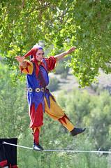 Clan Tynker - Tightrope Walker (Larry Lamsa) Tags: newmexico faire nm renaissancefair golondrinas tightropewalker lamsa clantynker elranchodelasgolondrinas