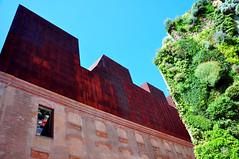 CaixaForum Madrid (denn0t) Tags: madrid art vertical architecture garden gallery steel architectural rusted herzogdemeuron feature caixaforum