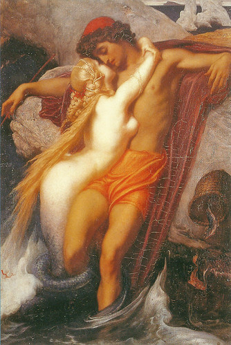 "Frederic Lord Leighton (1830-1896), ""The Fisherman and the Syren"" (from a ballad by Goethe), c. 1856-1858 by sofi01"