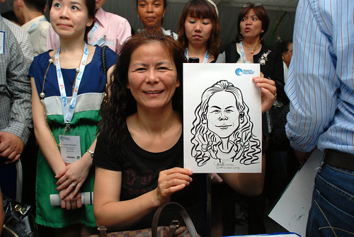 caricature live sketching for Singapore International Water Week Closing Dinner - 24