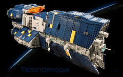 Ticonderoga1 (I Scream Clone) Tags: ship lego space scifi ticonderoga dreadnought vexillum