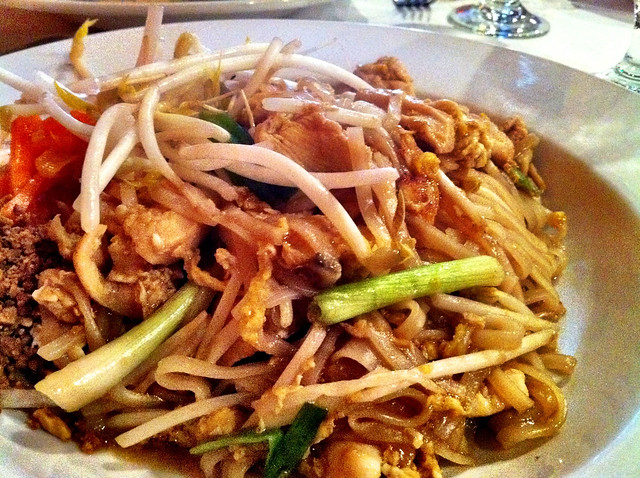 Pad Thai from Thai Bistro, Memphis, Tenn.
