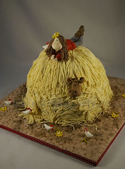 Cowgirl on a Haystack (Dot Klerck....) Tags: red horse chicken cake southafrica capetown dot wellington haystack cowgirl girlscakes ea