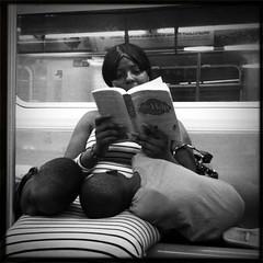 the help (john fullard) Tags: nyc urban newyork train underground subway carriage candid passengers iphone hipstamatic