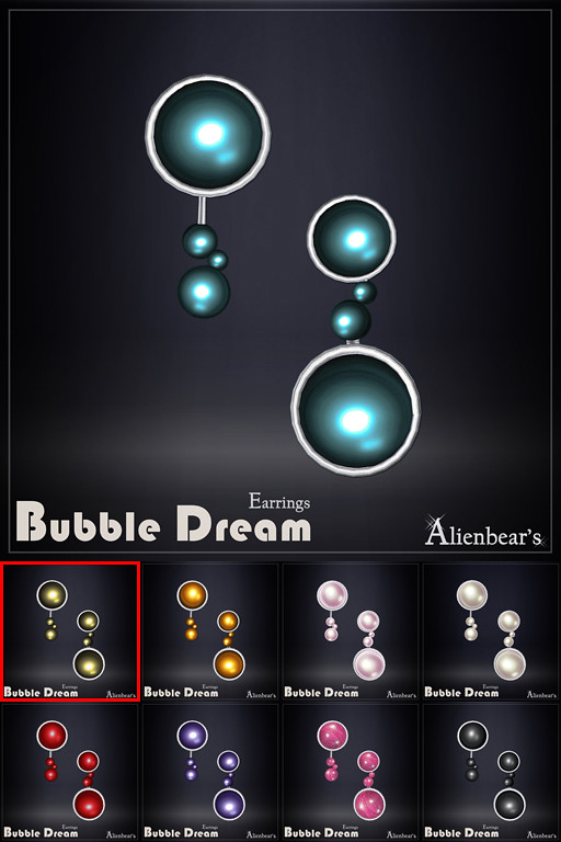 Bubble Dream earrings all