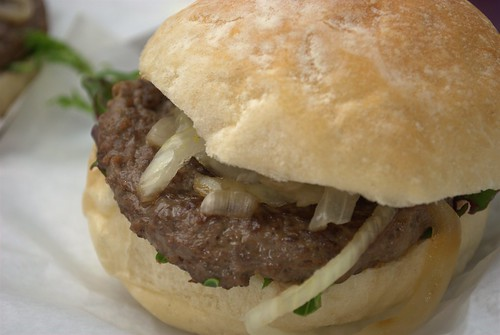 Ostrich burger at Borough Market