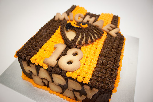 Hawks Footy Birthday Cake
