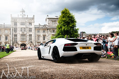 Wilton House Supercar Meet And Classic Car Rendezvous 2011 White Lamborghini Aventador Going Down The Drive (NWVT.co.uk) Tags: white house london classic car photography drive williams nick going down automotive h event r and owen lamborghini meet supercar rendezvous wilton the hro 2011 aventador nwvt