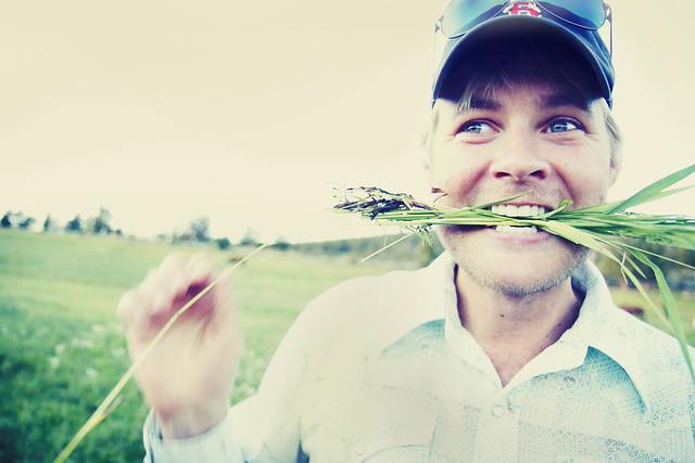 Black Mountain Colorado Dude Ranch andrew hyde man eating grass