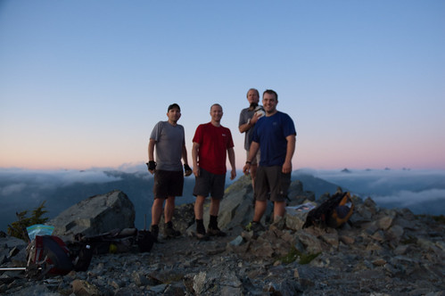 Blurry summit shot